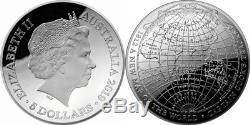 Australia 2019 $5 Domed Silver Coin Captain Cooks 1812 A New Map of The World