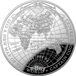 Australia 2019 $5 Silver Domed Coin Captain Cook's Tracks A New Map of the World