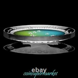 Australia Southern Sky 2014 ORION & 2013 PAVO Silver Proof Colored Domed Coins