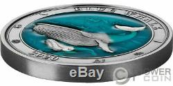 BLUE WHALE Underwater World 3 Oz Silver Coin 5$ Barbados 2020