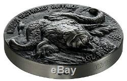 BUFFALO BIG FIVE 5 oz Silver Coin Antiqued Ultra High Relief Ivory Coast 2020