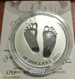 Baby Born In 2015 Welcome To The World 10 Fine Silver Coin