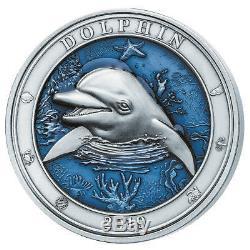 Barbados 2019 5$ Underwater World Dolphin 3oz Silver Coin