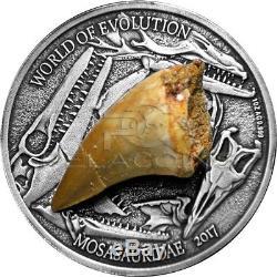 Burkina Faso 2017 1000 Francs World of Evolution Mosasaurus 1oz Silver Coin