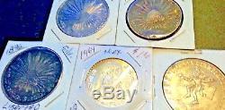 Cache of Mexican Bullion Libertads-Peso-Silver-World-Rare-Obsolete Coins-NICE