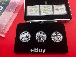 Canada 2016 World War I Aircraft WWI 3 Coin Airplane Silver Set in Metal Case
