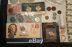Coin Currency Token lot 70 items UNC bills coins worlds fair silver US Foreign
