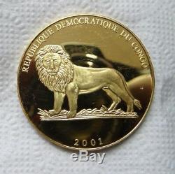 Coins 10 francs 2001 CONGO GERMANY WORLD FOOTBALL CHAMPIONS RARE