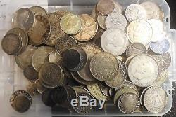 Collection Bulk Silver World Coins Various Types and Dates