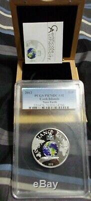 Cook Islands 2012 NANO EARTH The World In Your Hand Silver Coin PCGS PR70 DCAM