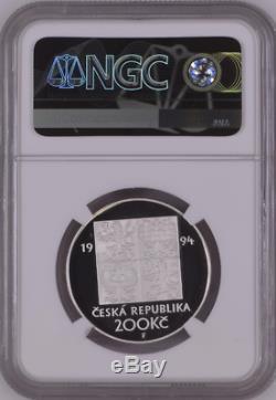 Czech Republic 200 Korun 1994 Environmental Protection Ngc Pf70uc World Coin