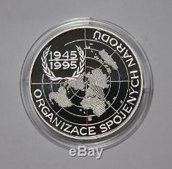 Czech Republic 200 Korun 1995 United Nations Wwii Silver Proof World Coin