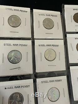 Dads entire coin collection of vintage Us Coins And World Coins
