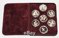 Disney Around the World 1988 Silver Proof Coins 7pc Commemorative Limited Edit