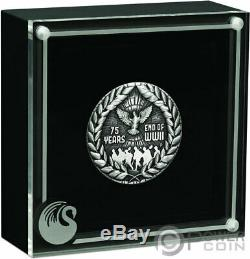 END OF WORLD WAR II Antique 75th Anniversary 2 Oz Silver Coin 2$ Australia 2020