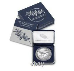 End Of World War ll 75th Aniversary Silver Medal Coin 20XH SEALED BOX Preorder