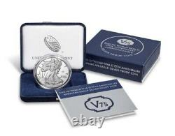 End of World War II 75th Anniversary American Eagle Silver Proof CoinUNOPENED