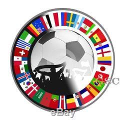 Football Silver coin Fans Souvenir Soccer coins Russia 2018 World Cup
