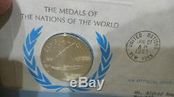 Franklin Mint Medals of the World Medallic Covers 144 Sterling Silver Coins