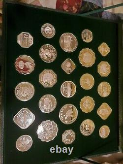 Franklin Mint Sterling Silver Official Gaming Coins of World's Great Casinos