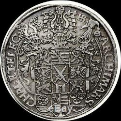 German States Saxony-Albertine 1586 thaler, old silver world coin HIGH GRADE