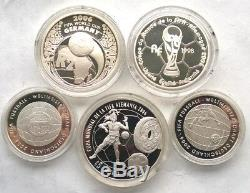 Germany 2006 World Cup Set of 5 Silver Coins, France, South Africa, Mexico