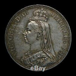 Great Britain 1887 Jubilee Crown Choice UNC World Silver Coin