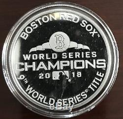 HIGHLAND MINT 2018 BOSTON Red Sox World Series CHAMPIONS SILVER MINT COIN