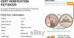 Haiti 1977 100 Gourdes Liberty Pf Rainbow Toned Silver World Coin Pcgs Graded