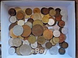 Huge 400 FOREIGN WORLD COIN LOT Some SILVER CANADA ISRAEL MEXICO AUSTRALIA MORE