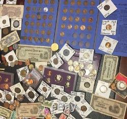 Huge Lot 350+USA&World Coins/Stamps/Currency1893Silver proofPCGSBuffaloHalf