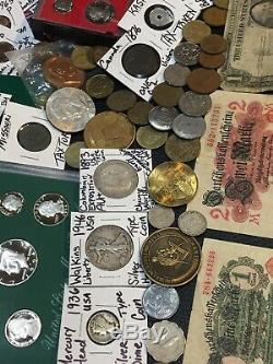 Huge Lot 400Coin/StampSilver Certificate/Mercury/Buffalo/Indian/1893WWII/World