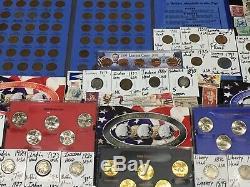 Huge Lot 400+Coin/StampSilver Half/Mercury/Buffalo/Indian/1893/Proof/V/World+