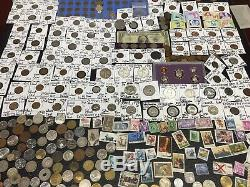 Huge Lot 400+Coin$/StampSilver Note/Mercury/Buffalo/V/Indian/1893/WL/PCGS/World