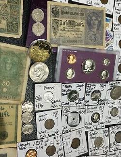 Huge Lot 450+Coin/StampSilver Certificate/Mercury/Buffalo/Indian/1893USA/World