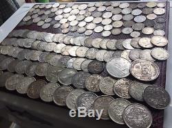 Huge World Foreign Silver 173 Old Silver Vintage Coins francs guilder Canadian