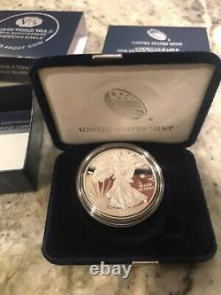 In Hand End Of World War 2 75th Anniversary Eagle Silver Proof Coins