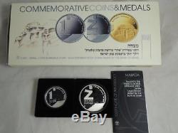 Israel 2009 Masada / Unesco World Heritage Sites, BU+PROOF Silver Coins +box+COA