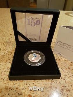 Jemima Puddleduck Silver Proof 50p coin Beatrix Potter World Black Box Ltd Ed