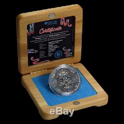 KAPALA WORLD CULTURE 2oz Silver Coin Antiqued Cameroon 2018