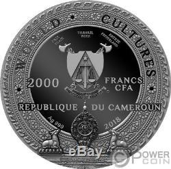 KAPALA World Cultures 2 Oz Silver Coin 2000 Francs Cameroon 2018