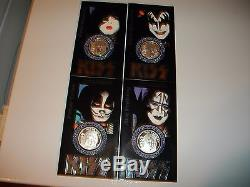 KISS OFFICIAL WORLD TOUR. 999 SILVER COIN SET/ORIGINAL/NEWith1997/L@@K