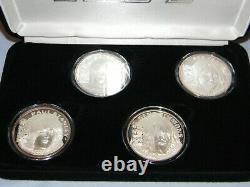 KISS Set of 4 SILVER Coins Worldwide Tour 1996-1997 Ltd #256/2500 Liberty Mint