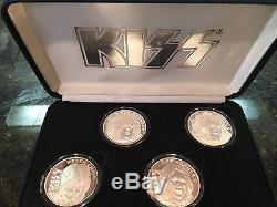 Kiss 1996-1997 World Wide Tour. 999 Fine Silver Coins Mint Condition