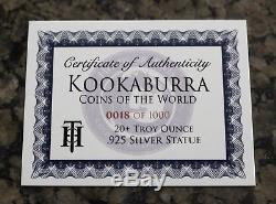 Kookaburra Coins of the World Limited Edition 20oz Silver Hand Poured Figurine