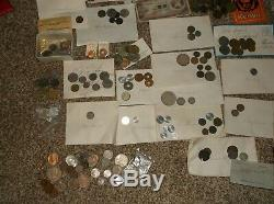 Large Assorted World Foreign Coin Lot! Some paper & silver