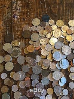 Large lot of world coins, silver Great collection! 6+ lbs