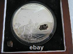 Liberia 2004, NWA 267 METEORITE silver coin! Only 999 made! 2oz, $10