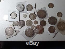 Lot Of (26) World Silver Coins! Many Countries & Colonies, Variety Of Dates