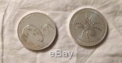 Lot of 10 World Silver Coins 1 Oz. Each Several High Value Some Mint-Sealed